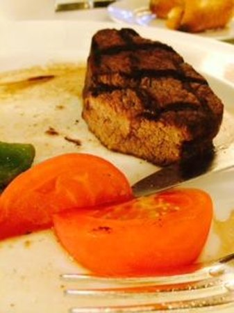Jumeirah Emirates Towers: Overcooked, dry steak from Rib Room. Should be Medium.