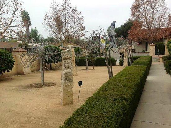Ojai Valley Museum of History and Art: Front Courtyard Sculpture Garden.
