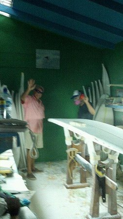 Carton the Surf Shop: Shaping room