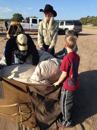 Santa Fe Balloon Company : Getting ready to pack the balloon up