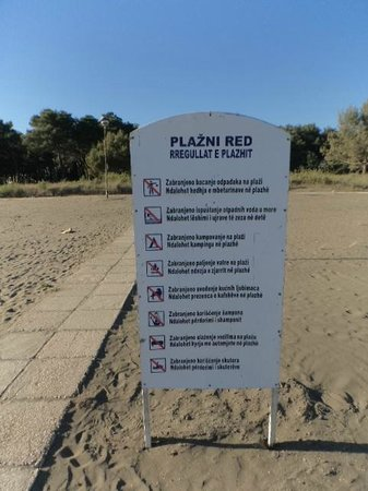 Long Beach (Velika plaža): Notice