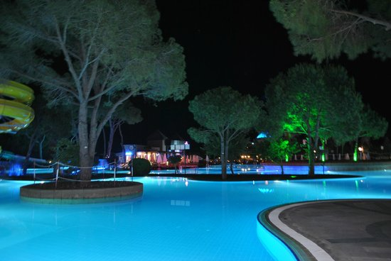 Papillon Ayscha Hotel: Night view of the pool