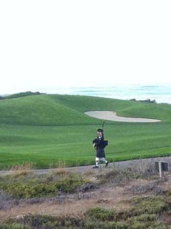 The Inn at Spanish Bay: At sundown, go and enjoy the bag piper and have a cocktail