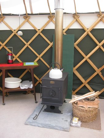 The Orchard Retreat: The wood-burner: to be used on our next visit