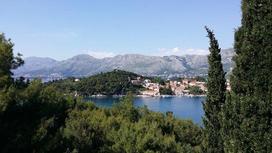 Hotel Croatia Cavtat : Utsikt från frukostrestaurangen