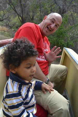 Sabino Canyon: My husband and son
