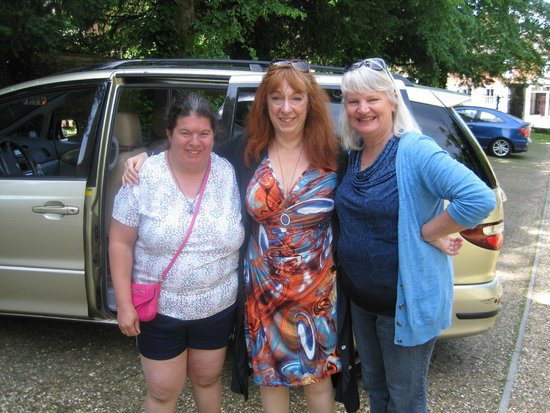 Anne of Marksman Tours (center) in front of the luxury van used for our private tour.
