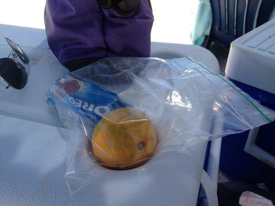 Posada Cayo Luna: Parte del pranzo in spiaggia