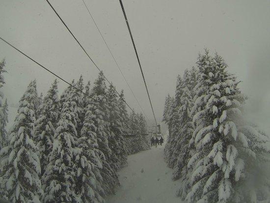 Domaine Skiable de Saint-Gervais : on a chairlift