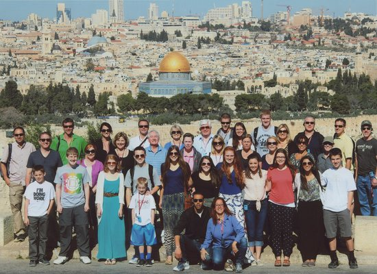 Guided Tours Israel - Day Tours : Our group in Jerusalem.  Micki and Moody in the front row.