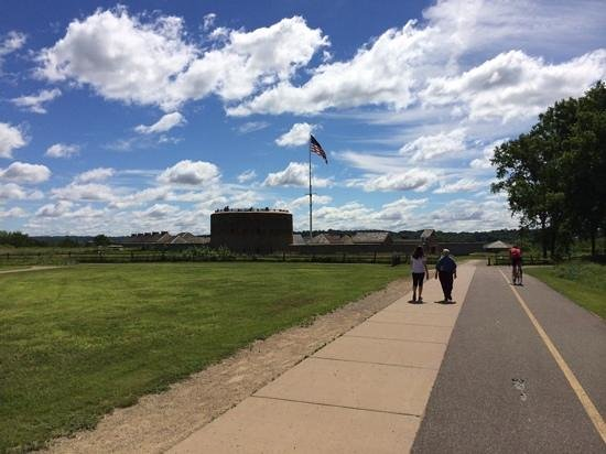 Fort Snelling State Park: the approach to the Fort