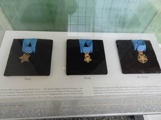 Arlington National Cemetery: Medals of honor on display.