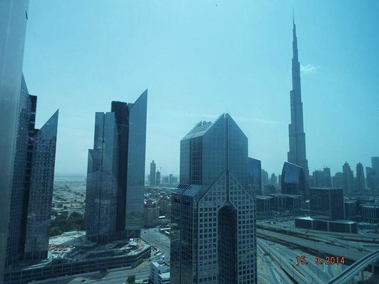 Shangri-La Hotel, Dubai: View from room on second visit