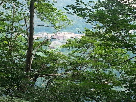 Sacro Monte di Orta: A view from the top onto Lago Maggiore