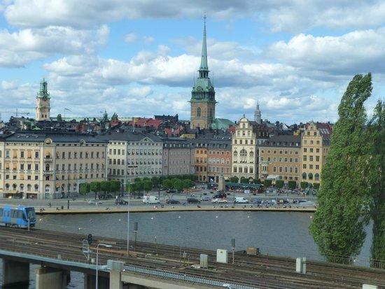 Hilton Stockholm Slussen: View of Old Town from our room.
