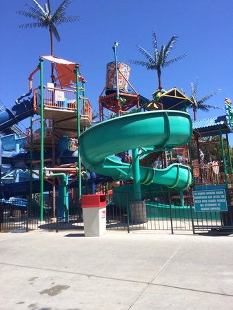 California's Great America: Younger children's water play area, with small water slides!