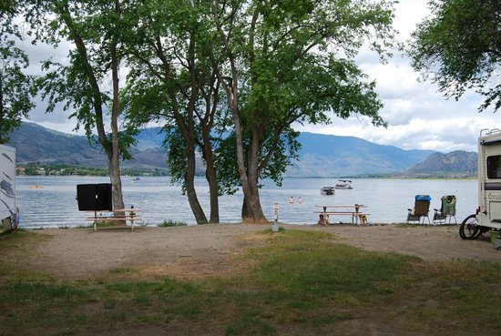 Nk'Mip Campground & RV Resort: View from spot 104 when this waterfront is not occupied.