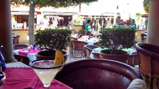 Maria Corona Restaurant: View from our table in the courtyard