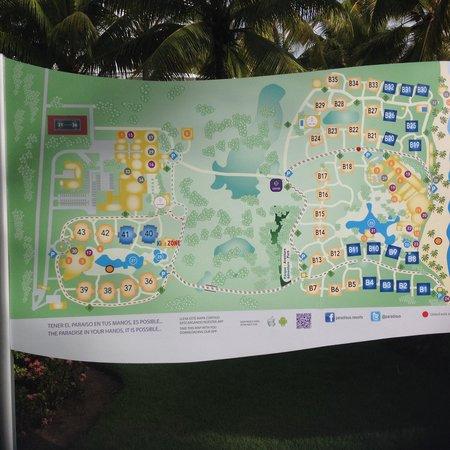 Paradisus Punta Cana Resort: Paradisus map