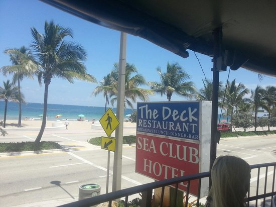 Deck Restaurant At Sea Club: Sign from the street