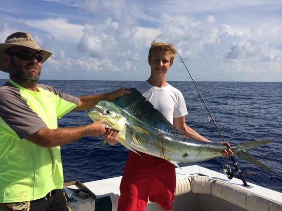 Main Attraction Charter Fishing: Capt Phil and Carter Ebbert w a great catch