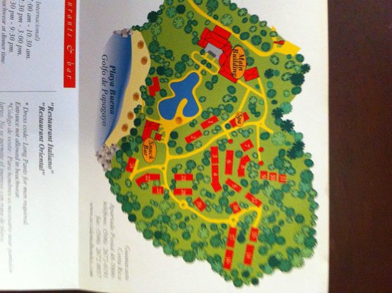 Occidental Papagayo - Adults only: resort map