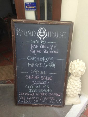 Round House: outdoor menu