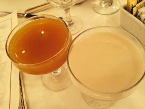 Antoine's : Fun martinis at Anotine's, one on left a tootsie roll for .25