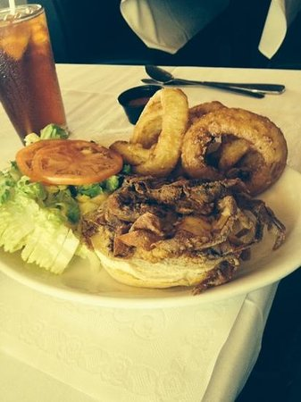 AJ's on the Creek: soft shelled crab sandwich...awesome!