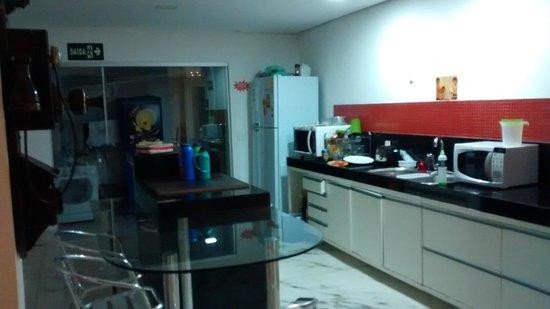 Ginga Hostel: Ótima cozinha.