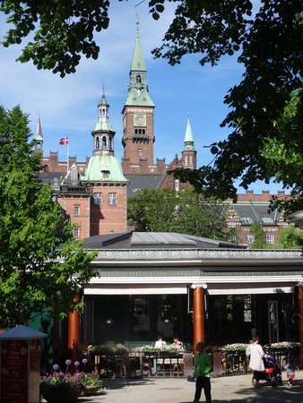 Tivoli Gardens: Located in the middle of town so the tall buildings peek over the walls