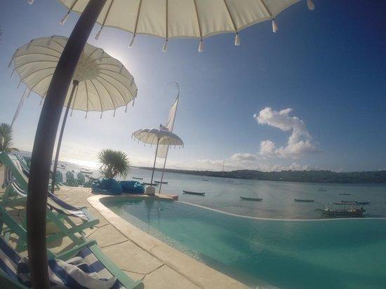 Le Pirate Beach Club Hotel Nusa Ceningan: the pool.