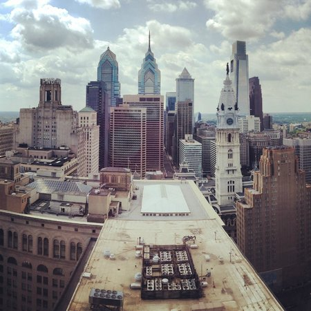 Loews Philadelphia Hotel : View of downtown skyline from the 29th floor