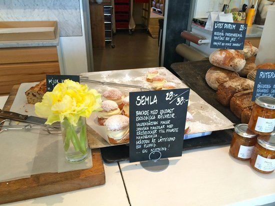 Rosendals Garden : At the Bakery counter. This is what a Semla looks like