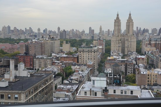 Hotel Beacon: View toward the east - trees of Central Park are visible.