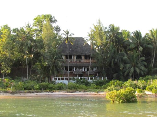 Mangrove Lodge: View of the restaurant from the cove