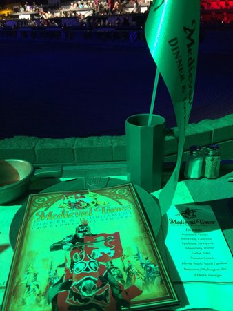 Medieval Times : When we sat down!!