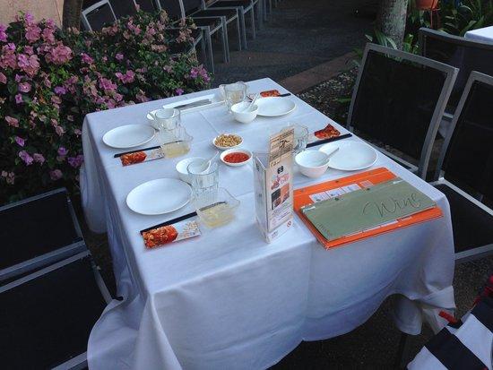 Jumbo Seafood : 屋外の席です