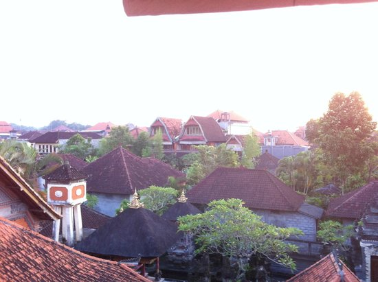 Narasoma Homestay: view from 3rd floor onto Ubud city centre
