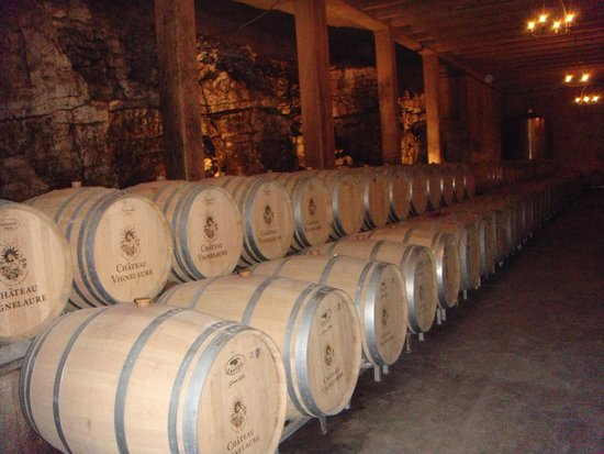 Provence Wine Tours : Barrel room of one of the Provence Chateaus
