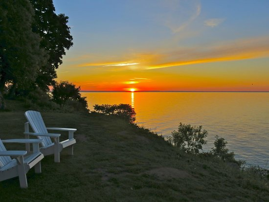 Cottage by the Lake: summer solstice sunset - longest day of the year