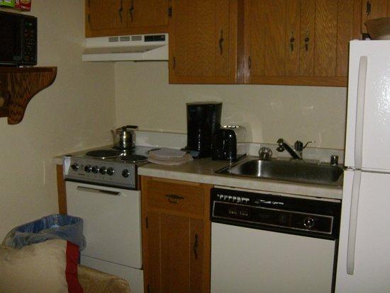 Waterbury Inn : Kitchen in One Bedroom Suite