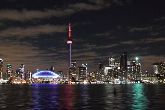 Parc des Îles de Toronto : トロントアイランドパークへ向かうフェリーより撮影
