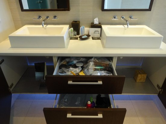 Gansevoort Turks + Caicos: sink area with lots of drawer and cabinet space