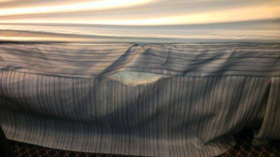 Howard Johnson Enchanted Land Hotel Kissimmee FL: lovely bed skirt