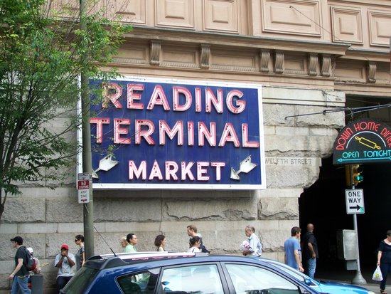 Reading Terminal Market : out side sign