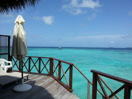 Thulhagiri Island Resort : View from our water villa