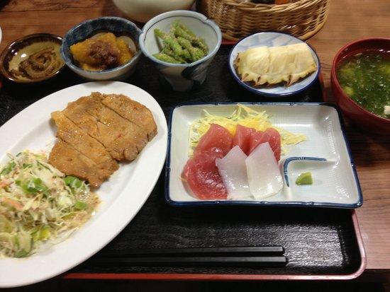Minshuku Noharaso : ボリュームたっぷりの美味しい食事