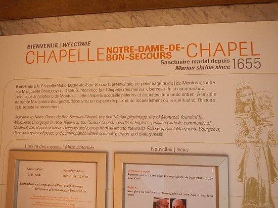 Chapelle Notre-Dame-de-Bonsecours : information