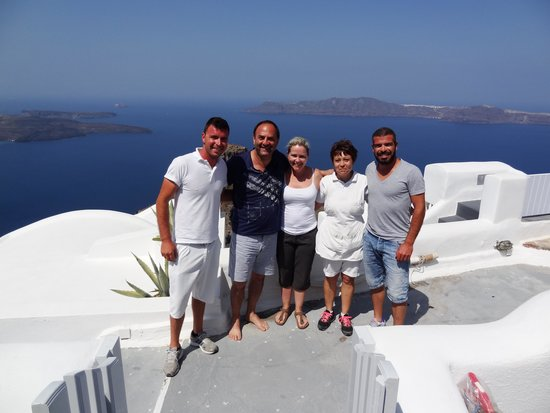 Vallais Villa : Maree & I with Loukas and his team!